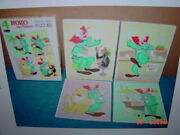 4 Vintage Classic Puzzles Bozo The Clown Dated 1966 Boxed Set Frame Tray Kids