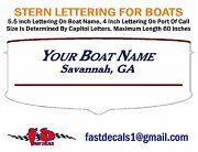 Boat Stern Lettering Graphic Decal - Free Shipping - Choose Font And Color