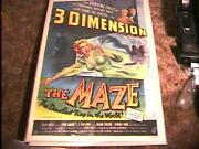 The Maze 3d Movie Poster And03953 Great Horror
