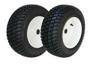 Two 16x6.50-8 R/m Turf Master Garden Tractor Front Tires And Wheels Rims Kit-a