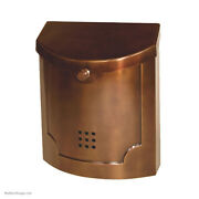 Modern Mailbox - Blackened Pewter, Bronze, Nickel Or Ant. Copper - Ecco Mail Box