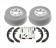 Rear Brake Drums + Shoes And Springs 4pc Kit For 98-02 Dodge Durango