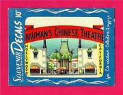 Vintage Graumans Chinese Theatre Hollywood 1951 Meyercord Decal Old Store Stock