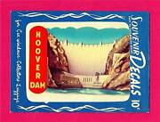 Vintage Hoover Boulder Dam Nevada 1951 Meyercord Water Decal Old Store Stock