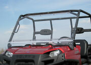 Hard Windshield For Polaris Ranger 400 - Travels Highway Speed - Polycarbonate
