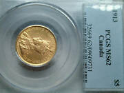 5 Dollars 1913 Gold Pcgs Ms62 Its A Pcgs Graded Coin
