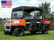 Roof And Hard Windshield For Kubota Rtv1140 - Soft Top Material - Polycarbonate