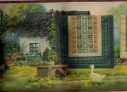 Quilts On Clothesline Vintage Style Wallpaper Border Pc95012b