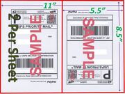 8000 Shipping Blank Labels 8.5x5.5 Paypal Self Adhesive