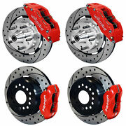 Wilwood Disc Brake Kit64-72 Chevelle6/4 Piston Red Calipers12 Drilled Rotors