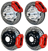 Wilwood Disc Brake Kit,1956 Chevy Corvette,12 Drilled Rotors,red Calipers