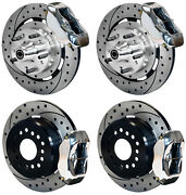 Wilwood Disc Brake Kit,1956 Chevy Corvette,12 Drilled Rotors,polished Calipers