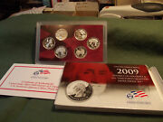2009 6pc Us Silver Proof Quarter Set Dc And 5 Terr.