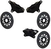 Wilwood 84-99 Harley Davidson Brake Caliper And Rotor Setblack2 Front And 1 Rear