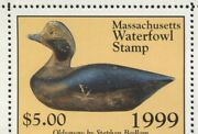 Massachusetts 26 1999 State Duck Old Squaw Decoy By Virginia Freyermuth