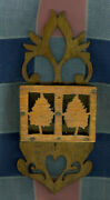 Beautiful Delicate Primitive Two Part Matchholder Heart Trees Arts And Crafts
