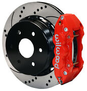 Wilwood Disc Brake Kit,rear,00-06 Avalanche,yukon Xl,14 Drilled,red Calipers