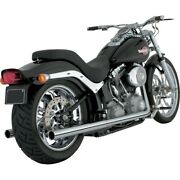 Escape Para Harley-davidson 12-17 Softail Duals Vance And Hines True Dual Exhaust