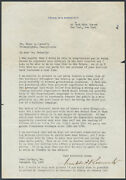 Franklin D. Roosevelt, 1928 Autograph Signed Letter On 1928 And 1932 Elections