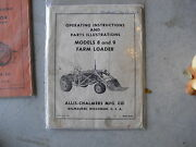 1950s Operation Instructions Booklet Allis Chalmers Tractors Farm Loader 8 9