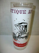 Collectible Drinking Glass Antique Autos 1900 Oldsmobile Car Auto 6 5/8 Tall