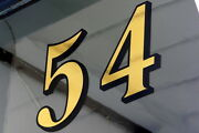 Gold Leaf Fanlight / Transom House Numbers For Victorian Front Door Fanlights