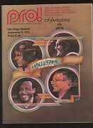 September 9th 1972 Nfl Hof Game Program San Diego Chargers At New York Jets Ex