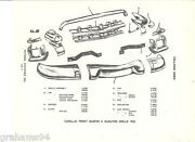 1953 Cadillac Front Bumper Grille Nos Parts Guide