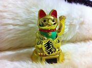 6.25japanese Waving Lucky Cat -solar Powered Batteries Not Required