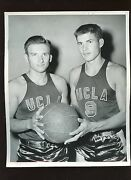 Original 1947-48 George And Johnny Stanlich Ucla Basketball Stan Troutman Photo