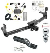 Trailer Tow Hitch For 10-17 Chevy Equinox Gmc Terrain + Wiring Kit And 1-7/8 Ball