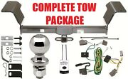 Complete Trailer Hitch Receiver Tow Package Fast Shipping Easy Install New