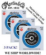 3 Sets - Martin Ma140 Acoustic Guitar Strings Light 80/20 Bronze Was M140