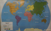 First Learners Map By Nystrom, 65 X 53, World And U.s. Pull Down School Maps