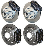 Wilwood Disc Brake Kit60-72 Cdp A-body W/9 Drumsblack Calipers11w/pb Cable