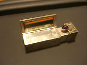 Antique Vintage Sterling Silver Lipstick Holder/mirror From 1930's Hand Made Wow