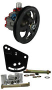 Krc Pro Series Aluminum Power Steering Pump W/ V-belt Pulley And Ford 351-400 Brkt