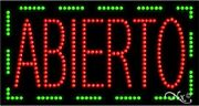 """New """"abierto Open Border 32x17 Solid And Animated Led Sign W/custom Options 21044"""