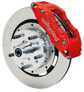 Wilwood Disc Brake Kitfront79-87 Chevygmcbuickolds6 Piston Calipers12red