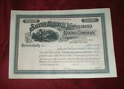 Silver Mountain Consolidated Mining Company Stock 1890and039s Utah 1511