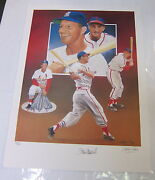 Stan Musial Autographed Limited Edition Lithograph By Christopher Paluso
