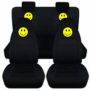 Smiley Face Front+back Seat Covers Fit 2009-2014 Suzuki Altoairbags Friendly