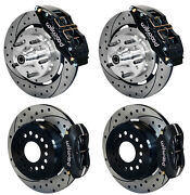 Wilwood Disc Brake Kit59-64 Impala12 Drilled Rotors6 Piston Frontblack Cal.