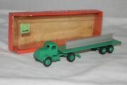 1960and039s Winross Toys White I Steel Beam Flatbed Transport Truck Mint Boxed