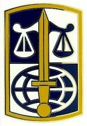 Army Legal Services Agency Combat Service Identification Military Csib Id Badge
