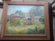 Nice Oil Painting By Well Known Artist Antonio Barone 1889 - 1971