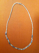 Lovely Classy And Modern Blue Sapphire Diamond And White Gold Necklace