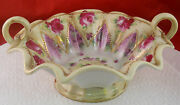 Antique Beautiful Hand Painted Nippon Gold Pink Roses Bowl Candy Dish
