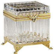 Fabulous Faberge Crystal And 24k Gold Plated Mulifunctional Box Authentic
