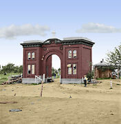 Evergreen Cemetery Gatehouse Gettysburg Pa Color Tinted Photo Civil War 01640